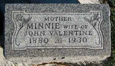 VALENTINE, MINNIE (MRS. JOHN) - Sioux County, Iowa | MINNIE (MRS. JOHN) VALENTINE