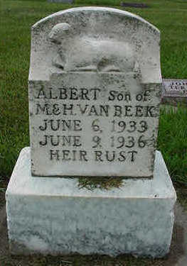VANBEEK, ALBERT - Sioux County, Iowa | ALBERT VANBEEK