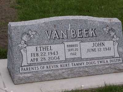 VANBEEK, ETHEL - Sioux County, Iowa | ETHEL VANBEEK
