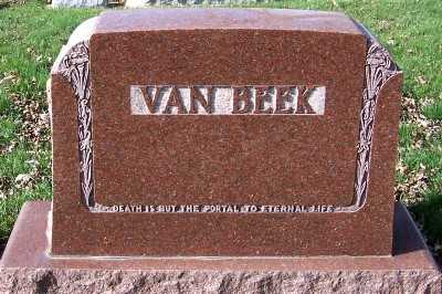 VANBEEK, HEADSTONE - Sioux County, Iowa | HEADSTONE VANBEEK