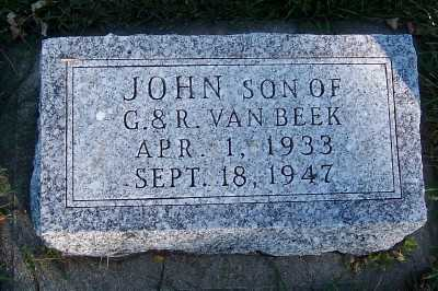 VANBEEK, JOHN (SON OF G. & R.) - Sioux County, Iowa | JOHN (SON OF G. & R.) VANBEEK