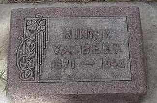 VANBEEK, MINNIE - Sioux County, Iowa | MINNIE VANBEEK