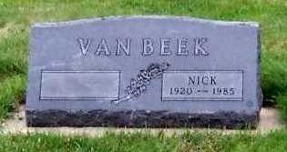 VANBEEK, NICK - Sioux County, Iowa | NICK VANBEEK