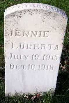 VANBERKUM, JENNIE LUBERTHA - Sioux County, Iowa | JENNIE LUBERTHA VANBERKUM