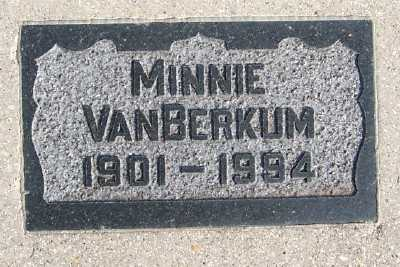 VANBERKUM, MINNIE - Sioux County, Iowa | MINNIE VANBERKUM