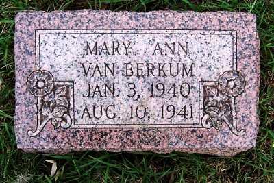 VANBERKUM, MARY ANN - Sioux County, Iowa | MARY ANN VANBERKUM