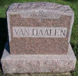 VANDAALEN, HEADSTONE - Sioux County, Iowa | HEADSTONE VANDAALEN
