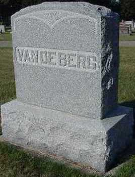 VANDEBERG, HEADSTONE - Sioux County, Iowa | HEADSTONE VANDEBERG