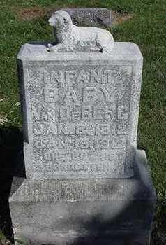 VANDEBERG, INFANT - Sioux County, Iowa   INFANT VANDEBERG