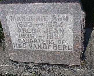 VANDEBERG, MARJORIE ANN - Sioux County, Iowa | MARJORIE ANN VANDEBERG
