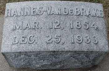 VANDEBRAKE, HANNES  D. 1933 - Sioux County, Iowa | HANNES  D. 1933 VANDEBRAKE