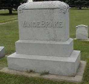 VANDEBRAKE, HEADSTONE - Sioux County, Iowa | HEADSTONE VANDEBRAKE