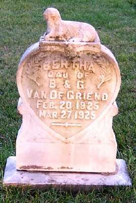 VANDEGRIEND, BERTHA (DAU OF B..& G.) - Sioux County, Iowa | BERTHA (DAU OF B..& G.) VANDEGRIEND