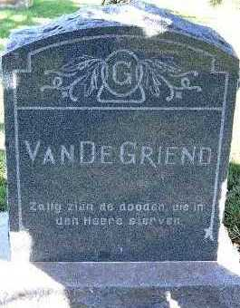 VANDEGRIEND, HEADSTONE - Sioux County, Iowa | HEADSTONE VANDEGRIEND