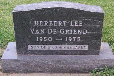 VANDEGRIEND, HERBERT LEE - Sioux County, Iowa | HERBERT LEE VANDEGRIEND