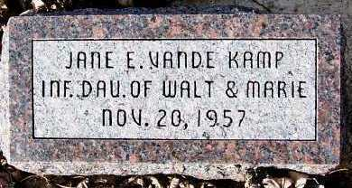 VANDEKAMP, JANE E. - Sioux County, Iowa | JANE E. VANDEKAMP