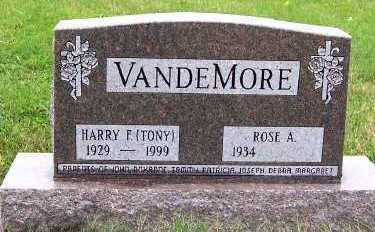 VANDEMORE, HARRY F. (TONY) - Sioux County, Iowa | HARRY F. (TONY) VANDEMORE
