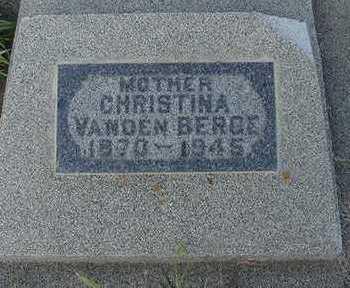 VANDENBERGE, CHRISTINA - Sioux County, Iowa | CHRISTINA VANDENBERGE