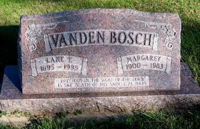VANDENBOSCH, LANE T. - Sioux County, Iowa | LANE T. VANDENBOSCH