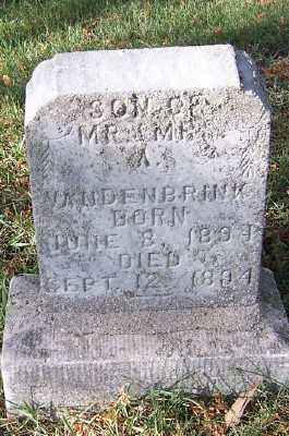 VANDENBRINK, INFANT SON OF M/M A. - Sioux County, Iowa | INFANT SON OF M/M A. VANDENBRINK