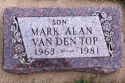 VANDENTOP, MARK ALAN - Sioux County, Iowa | MARK ALAN VANDENTOP