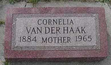 VANDERHAAK, CORNELIA - Sioux County, Iowa | CORNELIA VANDERHAAK