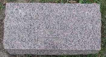 VANDERHAMM, ANNA E. (MRS. ROBERT) - Sioux County, Iowa | ANNA E. (MRS. ROBERT) VANDERHAMM