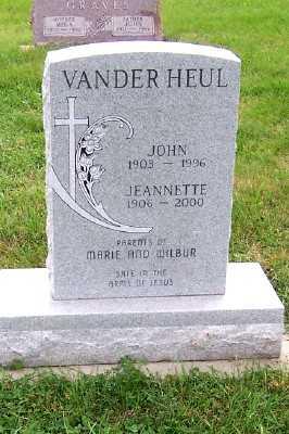VANDERHEUL, JEANNETTE - Sioux County, Iowa | JEANNETTE VANDERHEUL