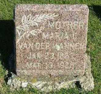 VANDERMANNEN, MARIA C. - Sioux County, Iowa | MARIA C. VANDERMANNEN