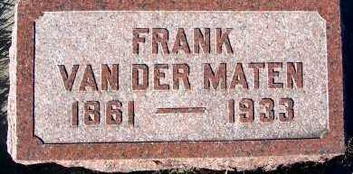 VANDERMATEN, FRANK - Sioux County, Iowa | FRANK VANDERMATEN