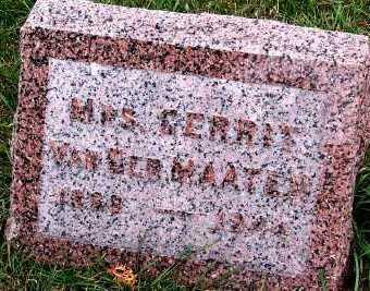 VANDERMATEN, MRS. GERRIT (1888-1944) - Sioux County, Iowa | MRS. GERRIT (1888-1944) VANDERMATEN