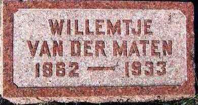 VANDERMATEN, WILLEMTJE - Sioux County, Iowa   WILLEMTJE VANDERMATEN