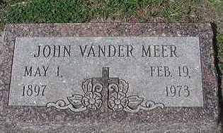 VANDERMEER, JOHN - Sioux County, Iowa | JOHN VANDERMEER
