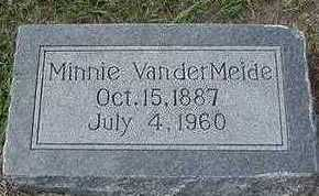 VANDERMEIDE, MINNIE - Sioux County, Iowa | MINNIE VANDERMEIDE