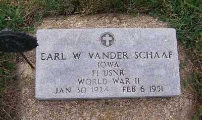 VANDER SCHAAF, EARL W. - Sioux County, Iowa | EARL W. VANDER SCHAAF