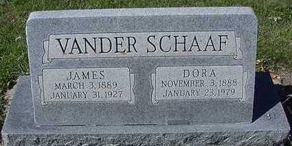 VANDERSCHAAF, DORA (MRS. JAMES) - Sioux County, Iowa | DORA (MRS. JAMES) VANDERSCHAAF