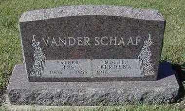 VANDERSCHAAF, JOE - Sioux County, Iowa | JOE VANDERSCHAAF