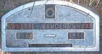 VANDER SCHAAF, JANELLE - Sioux County, Iowa | JANELLE VANDER SCHAAF