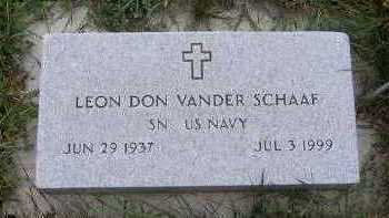 VANDERSCHAAF, LEON DON - Sioux County, Iowa | LEON DON VANDERSCHAAF