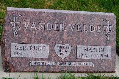 VANDERVELDE, MARTIN - Sioux County, Iowa | MARTIN VANDERVELDE