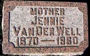 VANDERWELL, JENNIE - Sioux County, Iowa | JENNIE VANDERWELL