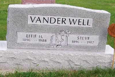 VANDERWELL, EFFIE H. - Sioux County, Iowa | EFFIE H. VANDERWELL