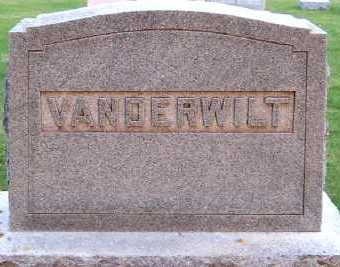 VANDERWILT, HEADSTONE - Sioux County, Iowa | HEADSTONE VANDERWILT