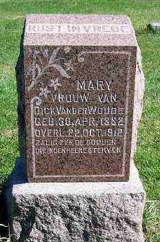 VANDERWOUDE, MARY (MRS. DICK) - Sioux County, Iowa | MARY (MRS. DICK) VANDERWOUDE