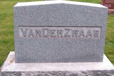 VANDERZWAAG, HEADSTONE - Sioux County, Iowa | HEADSTONE VANDERZWAAG