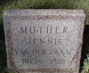 VANDERZWAAG, JENNIE (MRS. BOUKE) - Sioux County, Iowa | JENNIE (MRS. BOUKE) VANDERZWAAG