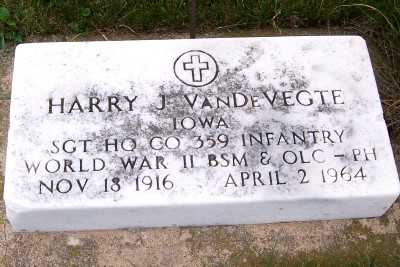 VANDEVEGTE, HARRY J. - Sioux County, Iowa | HARRY J. VANDEVEGTE