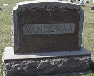 VANDEWAA, HEADSTONE - Sioux County, Iowa | HEADSTONE VANDEWAA