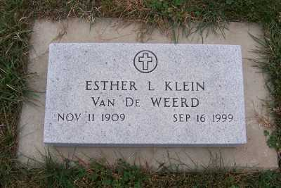 KLEIN VANDEWEERD, ESTHER L. - Sioux County, Iowa | ESTHER L. KLEIN VANDEWEERD