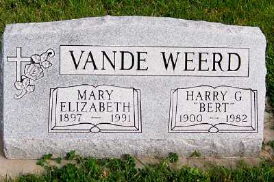 VANDEWEERD, HARRY G. (BERT) - Sioux County, Iowa | HARRY G. (BERT) VANDEWEERD